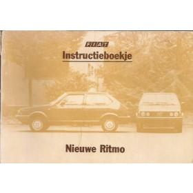 Fiat Ritmo Instructieboekje  Mk2 Benzine/Diesel Fabrikant 83 met gebruikssporen   Nederlands