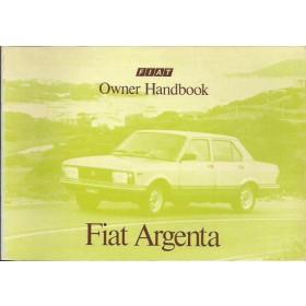 Fiat Argenta Instructieboekje   Benzine/Diesel Fabrikant 82 ongebruikt   Engels