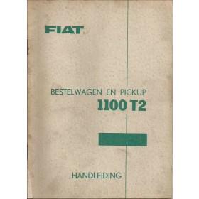 Fiat 1100T2 Instructieboekje  217A Benzine Fabrikant 61 met gebruikssporen   Nederlands