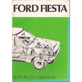 Ford Fiesta Instructieboekje  Mk1 Benzine Fabrikant 76 met gebruikssporen   Nederlands