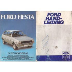 Ford Fiesta Instructieboekje  Mk1 Benzine Fabrikant 79 met gebruikssporen lichte vochtschade  Nederlands