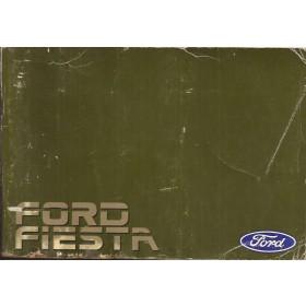Ford Fiesta Instructieboekje  Mk2 Benzine Fabrikant 85 met gebruikssporen lichte vochtschade  Nederlands