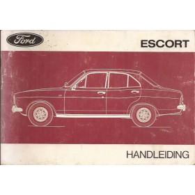 Ford Escort Instructieboekje  Mk1 Benzine Fabrikant 73 met gebruikssporen   Nederlands