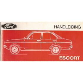 Ford Escort Instructieboekje  Mk2 Benzine Fabrikant 74 met gebruikssporen   Nederlands