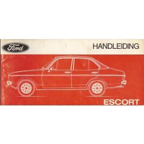 Ford Escort Instructieboekje  Mk2 Benzine Fabrikant 75 met gebruikssporen   Nederlands