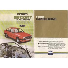 Ford Escort Instructieboekje  Mk3 Benzine/Diesel Fabrikant 84 met gebruikssporen   Nederlands