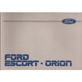 Ford Escort/Orion Instructieboekje  Mk3 Benzine/Diesel Fabrikant 86 met gebruikssporen   Nederlands