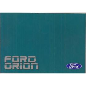 Ford Orion Instructieboekje   Benzine/Diesel Fabrikant 88 ongebruikt   Nederlands