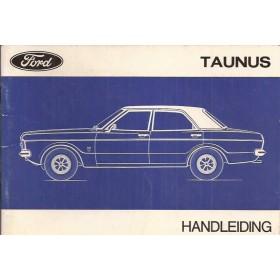 Ford Taunus Instructieboekje   Benzine Fabrikant 71 met gebruikssporen   Nederlands