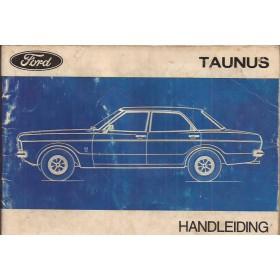 Ford Taunus Instructieboekje   Benzine Fabrikant 71 met gebruikssporen lichte vochtschade  Nederlands