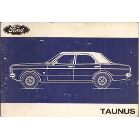 Ford Taunus Instructieboekje   Benzine Fabrikant 72 met gebruikssporen   Nederlands
