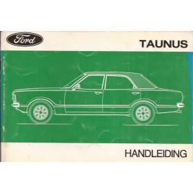 Ford Taunus Instructieboekje   Benzine Fabrikant 73 met gebruikssporen   Nederlands