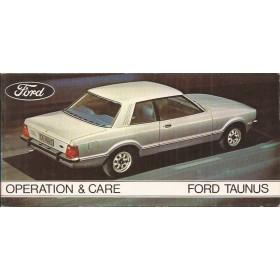 Ford Taunus Instructieboekje  TC2 Benzine Fabrikant 75 ongebruikt   Engels