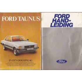 Ford Taunus Instructieboekje  TC3 Benzine Fabrikant 78 met gebruikssporen groot model  Nederlands