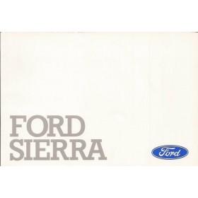 Ford Sierra/Sierra Cosworth Instructieboekje   Benzine/Diesel Fabrikant 89 met gebruikssporen   Nederlands