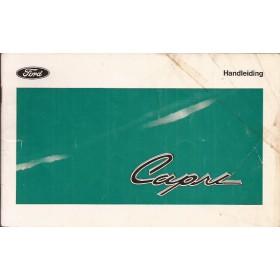 Ford Capri Instructieboekje   Benzine Fabrikant 69 met gebruikssporen   Nederlands
