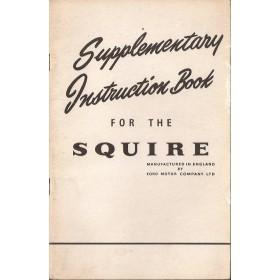 Ford Squire Instructieboekje   Benzine Fabrikant 53 ongebruikt bijlage bij instructieboekje  Engels