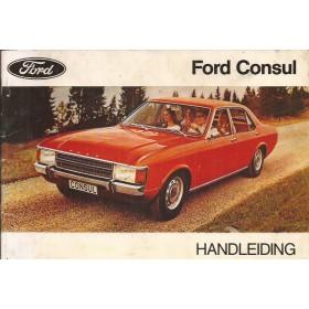 Ford Consul Instructieboekje   Benzine Fabrikant 72 met gebruikssporen   Nederlands