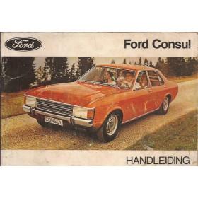 Ford Consul Instructieboekje   Benzine Fabrikant 72 met gebruikssporen scheur in kaft  Nederlands
