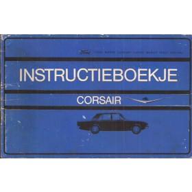 Ford Corsair Instructieboekje   Benzine Fabrikant 65 met gebruikssporen   Nederlands