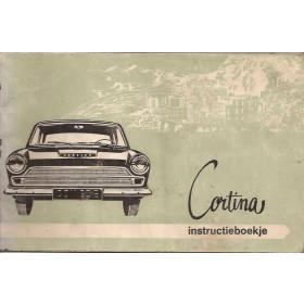 Ford Cortina Instructieboekje  Mk1 Benzine Fabrikant 64 met gebruikssporen   Nederlands