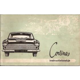 Ford Cortina Instructieboekje  Mk1 Benzine Fabrikant 66 met gebruikssporen   Nederlands