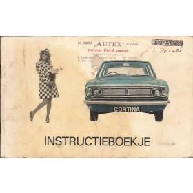 Ford Cortina Instructieboekje  Mk2 Benzine Fabrikant 66 met gebruikssporen   Nederlands