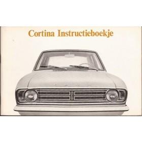Ford Cortina Instructieboekje Mk2 Benzine Fabrikant 68 ongebruikt Nederlands