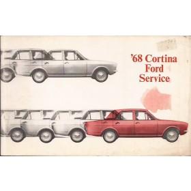 Ford Cortina Serviceboekje  Mk2 Benzine Fabrikant 68 ongebruikt   Engels