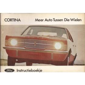 Ford Cortina Instructieboekje  Mk3 Benzine Fabrikant 70 ongebruikt   Nederlands