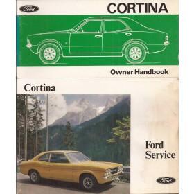 Ford Cortina Instructieboekje  Mk3 Benzine Fabrikant 75 met gebruikssporen   Engels