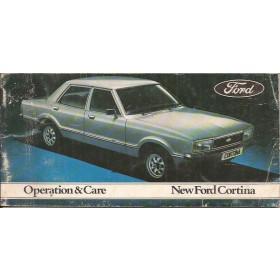 Ford Cortina Instructieboekje  Mk3 Benzine Fabrikant 76 met gebruikssporen   Engels