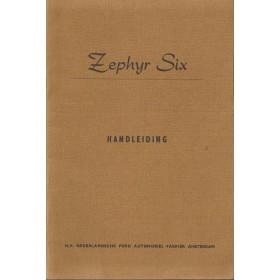 Ford Zephyr Six Instructieboekje   Benzine Fabrikant 55 ongebruikt   Nederlands