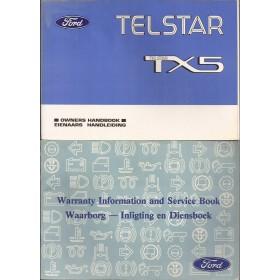 Ford Telstar Instructieboekje   Benzine Fabrikant 93 met gebruikssporen kaft los  ZA