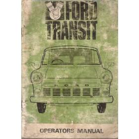 Ford Transit Instructieboekje   Benzine Fabrikant 65 met gebruikssporen potloodkrassen achterin, vochtschade  Engels