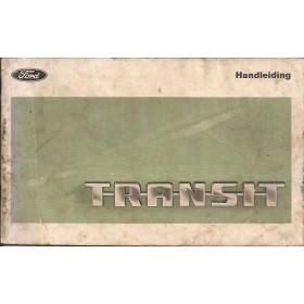 Ford Transit Instructieboekje   Benzine Fabrikant 69 met gebruikssporen vouw in kaft, lichte vochtschade  Nederlands
