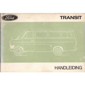 Ford Transit Instructieboekje   Benzine Fabrikant 70 met gebruikssporen   Nederlands