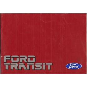 Ford Transit Instructieboekje   Benzine/Diesel Fabrikant 90 met gebruikssporen   Nederlands