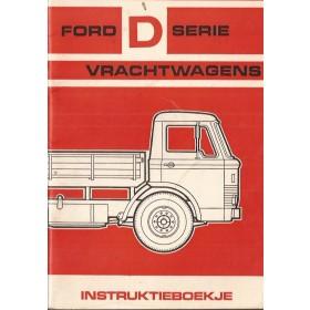 Ford vrachtwagen D-series Instructieboekje   Benzine Fabrikant 1966 met gebruikssporen   Nederlands