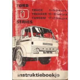 Ford vrachtwagen D-series Instructieboekje   Benzine Fabrikant 71 met gebruikssporen   Nederlands