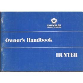 Hillman Hunter Instructieboekje   Benzine Fabrikant 73 ongebruikt   Engels