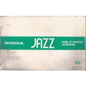 Honda Jazz Instructieboekje   Benzine Fabrikant 84 met gebruikssporen   Nederlands/Frans/Engels/Duits