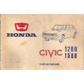 Honda Civic Mk1 Instructieboekje Benzine Fabrikant 75 met gebruikssporen notities op achterkaft  Nederlands