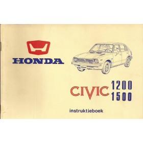 Honda Civic Mk1 Instructieboekje Benzine Fabrikant 77 ongebruikt   Nederlands