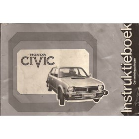 Honda Civic Mk1 Instructieboekje Benzine Fabrikant 78 met gebruikssporen llichte kreukels  Nederlands
