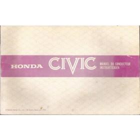 Honda Civic Mk2 Instructieboekje Benzine Fabrikant 79 met gebruikssporen   Nederlands/Frans