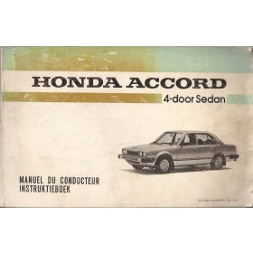 Honda Accord Instructieboekje   Benzine Fabrikant 79 met gebruikssporen   Nederlands
