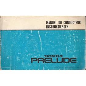 Honda Prelude Instructieboekje   Benzine Fabrikant 79 met gebruikssporen   Nederlands
