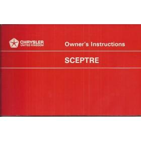 Humber Sceptre Mk3 Instructieboekje   Benzine Fabrikant 68 ongebruikt rode kaft  Engels