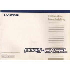 Hyundai Excel Instructieboekje   Benzine Fabrikant 88 met gebruikssporen   Nederlands/Frans